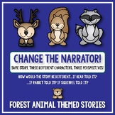 Creative Writing: Change the Narrator! Story Prompts - Forest Animal Themed