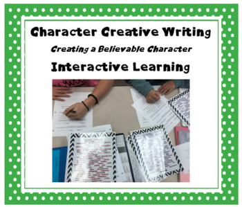 Creative Writing:  Character Activity with Interactive Task Cards