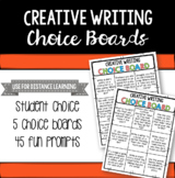 Creative Writing Choice Boards - Distance Learning Resource