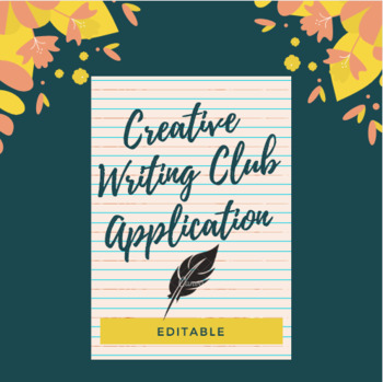 Creative Writing Club Application (editable)
