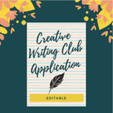 Creative Writing Club Application {editable}