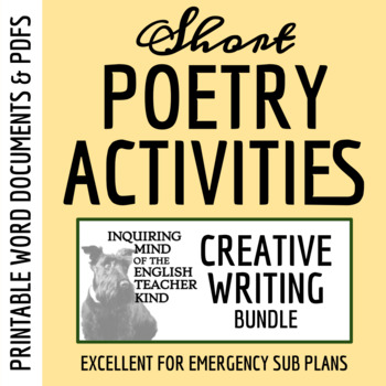 Creative Writing - 16 Quick Poetry Activities