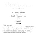 Creative Writing Concrete Poetry  criteria and example