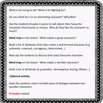 Engaging Characters: Creative Writing Lessons for 15 to 18yrs