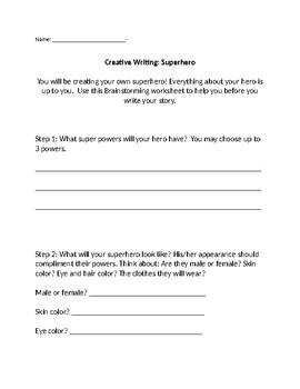 Creative Writing: Create a Superhero