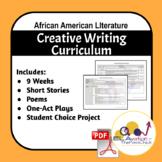 Creative Writing Curriculum Celebrating African American Writers