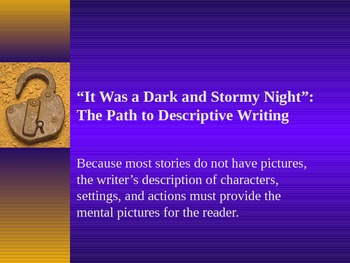 Creative Writing: Descriptive Writing Techniques and Activity Powerpoint