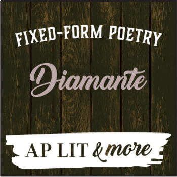 Creative Writing - Diamante, a Fixed-Form Poem