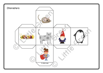 Creative Writing Dice - a game for a literacy center or the whole class!