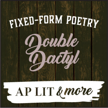Creative Writing - Double Dactyl, a Fixed-Form Poem