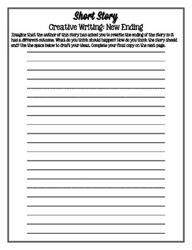 Creative Writing & Drawing Packet for ANY SHORT STORY