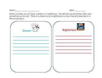 Creative Writing Dreams/ Nightmares