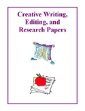 Creative Writing, Editing, and Research Papers Activities