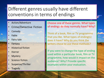 Creative Writing: Endings