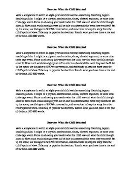Creative Writing Exercises - Describing Details