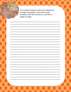 5 Halloween Story Starters on Themed Paper