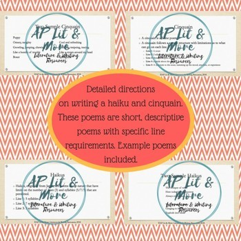 Creative Writing - Haiku & Cinquain, Fixed-Form Poems
