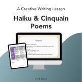 Creative Writing Lessons on Haikus & Cinquains