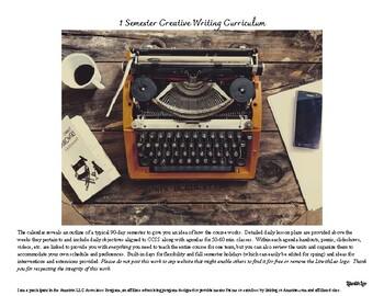 Creative Writing High School Semester Curriculum