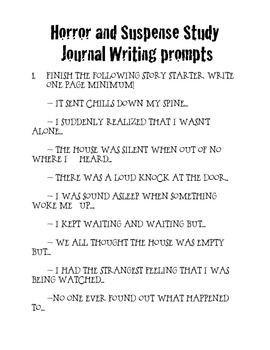 Creative Writing Horror Prompts