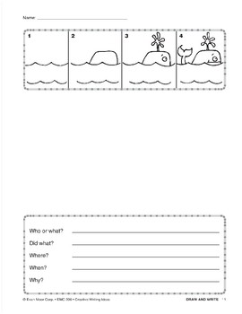 Creative Writing Ideas-Draw and Write