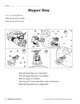 Creative Writing Ideas-Sequence & Write: Super Boy