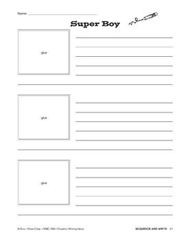 Creative Writing Ideas-Sequence & Write: Super Boy