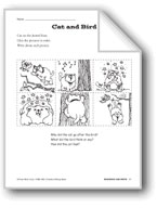 Creative Writing Ideas-Sequence and Write: Cat and Bird