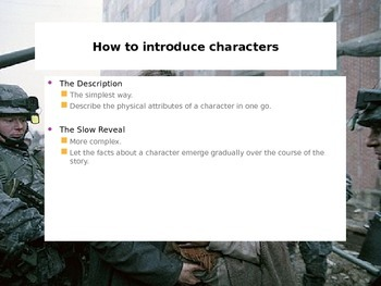 Creative Writing - Introducing Characters