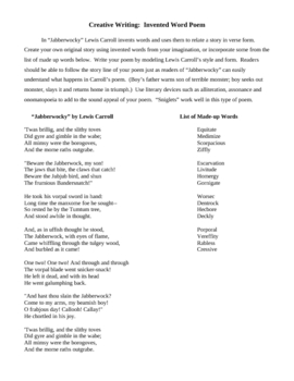 Creative Writing Invented word poem