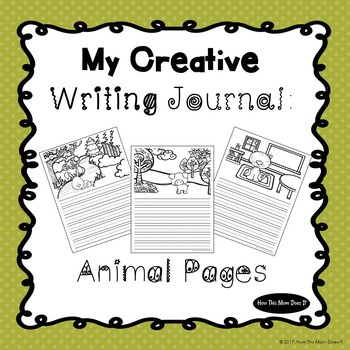 Creative Writing Journal - Animal Themed Pages