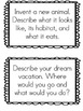 Creative Writing Journal Prompts
