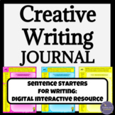 Creative Writing Digital Interactive Notebook for Google Drive