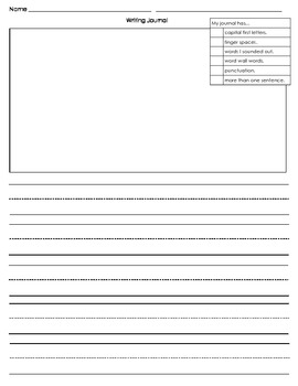 creative writing journal template by mrs j s teachers pay teachers