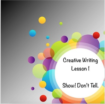 Creative Writing Lesson 1: Show, Don't Tell Google Drive Digital Resource