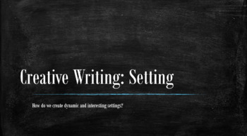 Creative Writing - Lesson Plan on Setting