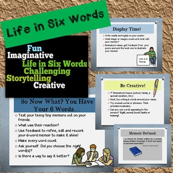Life in Six Words Memoirs - Creative Writing