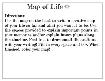 "Creative Writing ""Map of Life"" Back To School"
