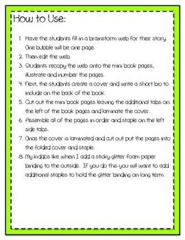 Creative Writing Mini Book Template