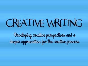 Creative Writing Mini-Course PPT