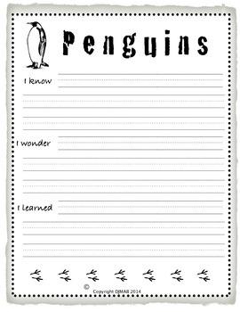 Creative Writing Mini Unit on Penguins