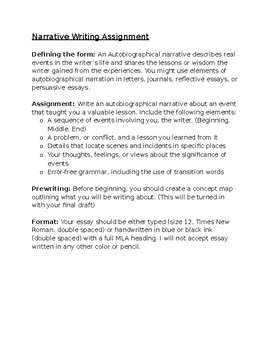 Creative writing narrative top college admission essays