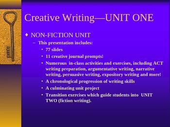 Creative Writing - Non Fiction Unit