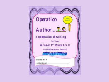 Creative Writing:  Operation Author Three, the power point