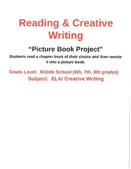 Creative Writing:  Picture Book Project