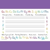 Creative Writing Place Mat - Dry-Erase - Sunshine Script
