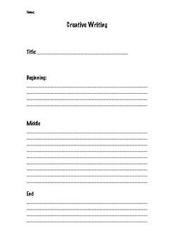 creative writing plan