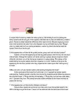 Creative Writing Plan inspired by colors