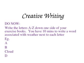 Creative Writing PowerPoint 1