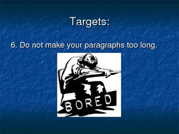 Creative Writing Powerpoint: 10 Targets
